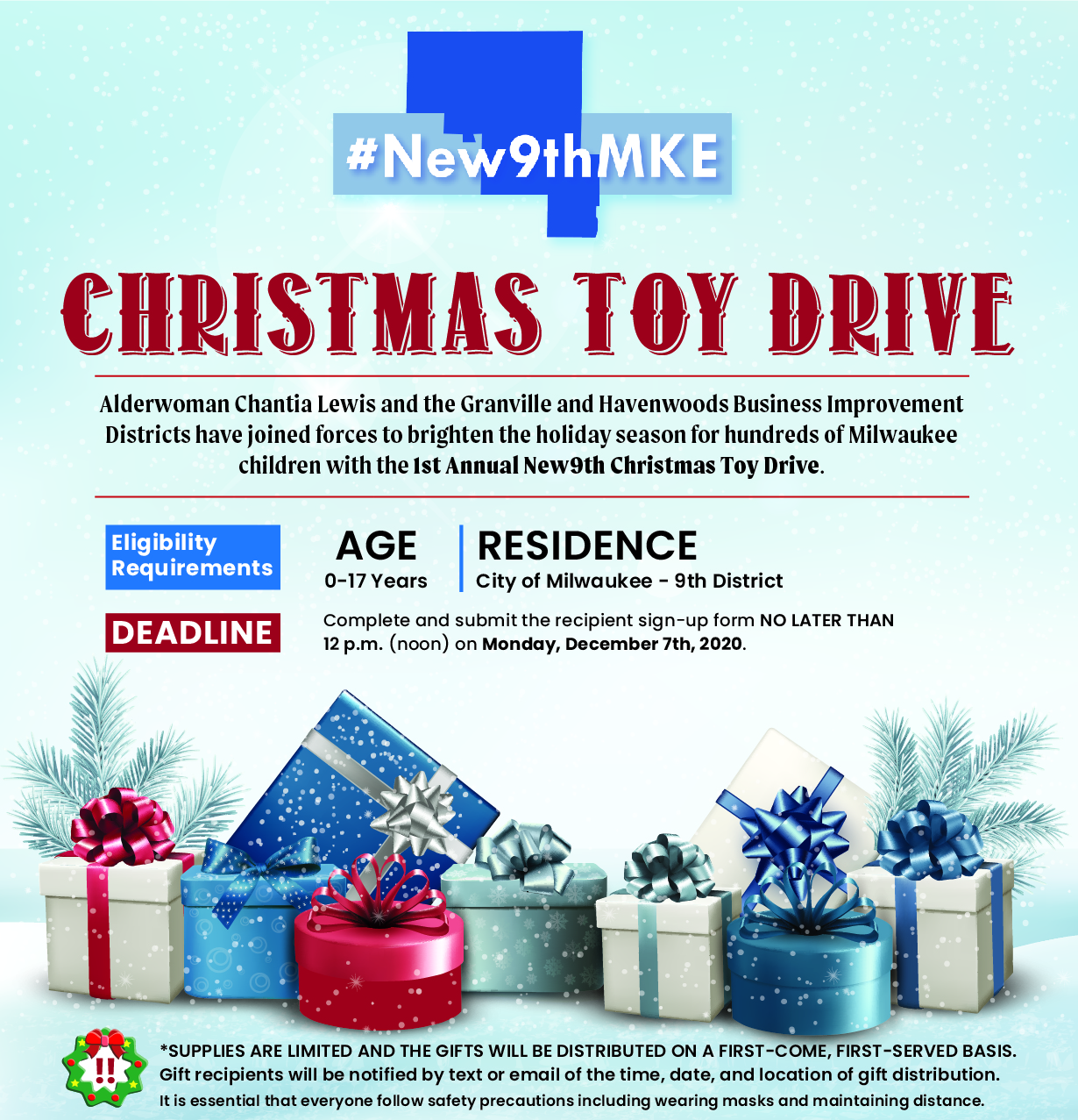 1st Annual New9th Christmas Toy Drive to Brighten the Season for Hundreds of Children