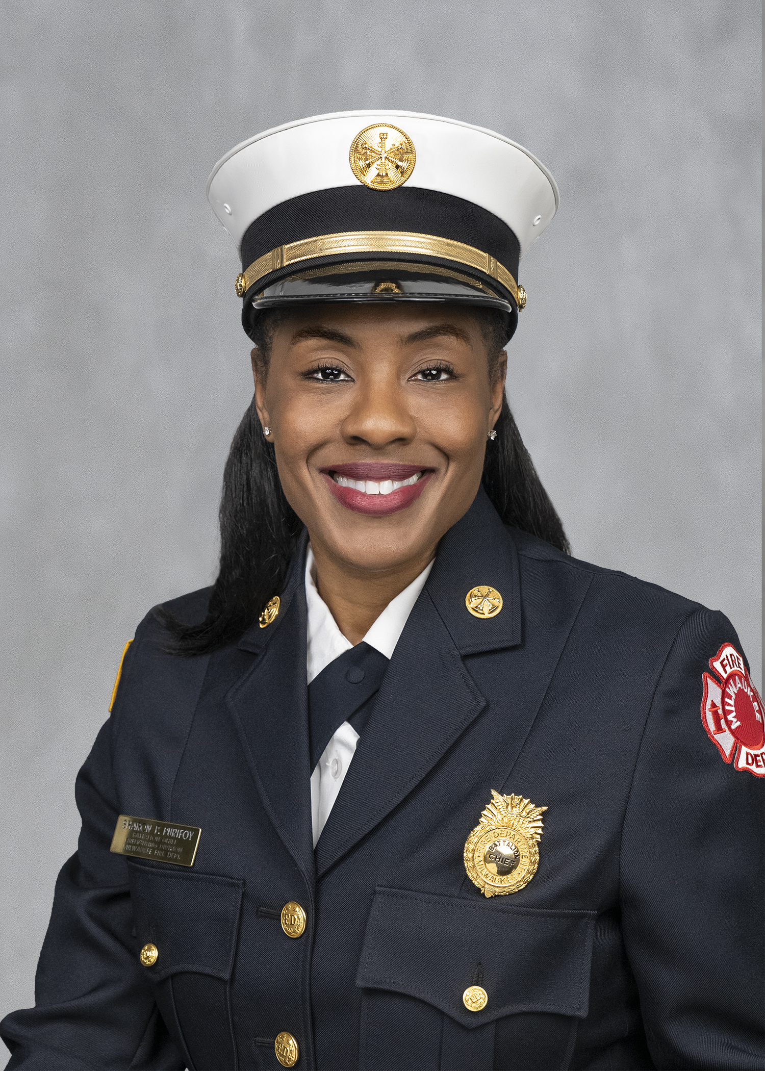 Sharon P. Purifoy. Photo from the Milwaukee Fire Department.