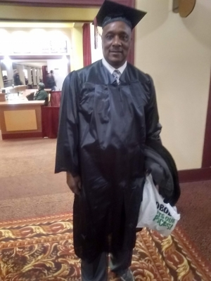 Charles Sheppard, of Milwaukee, earned his associate's degree with plans to continue his education. Friends and colleagues say he was passionate about learning. Graduation was a proud moment, said Dorothy McCollum. Photo courtesy of Dorothy McCollum