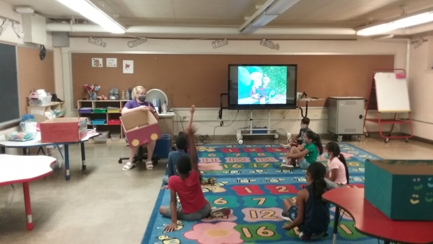Students participate in a project on cars at the MKE Rec summer program at Anna F Doerfler Elementary School in Milwaukee. Photo courtesy of MKE Rec