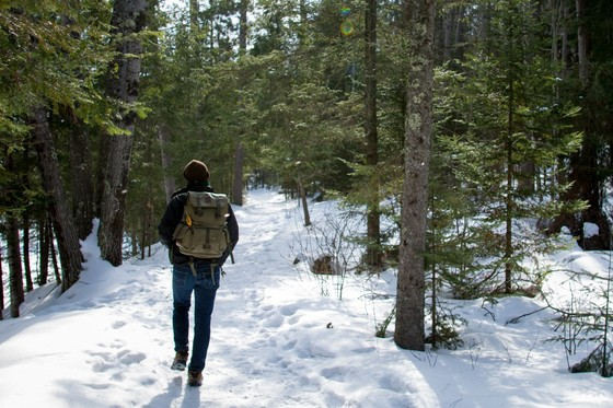 Copper Falls State Park provides scenic rewards for hikers and snowshoers who bundle up and brave the elements on a winter walk. / Photo Credit: Wisconsin DNR