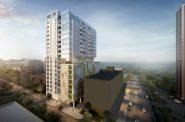 18-story for 1000 block of N. Marshall St. Rendering by Kahler Slater.