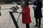 Interim Health Commissioner Marlaina Jackson addresses the media on December 22nd, 2020. Photo by Jeramey Jannene.
