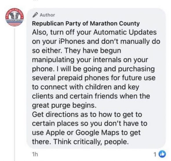 """The Marathon County Republican Party says a """"great purge,"""" will begin."""