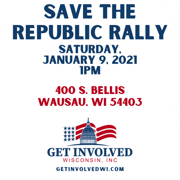 Information about the Save the Republic Rally that Rep. Tom Tiffany attended.