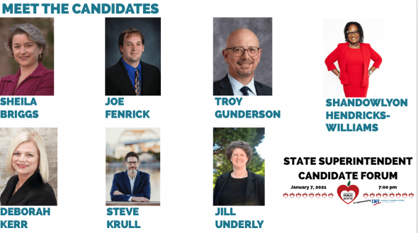 State superintendent candidates. Photo courtesy of Wisconsin Public Education Network.