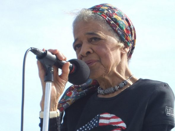 Vel Phillips. Photo by Voces de la Frontera from Milwaukee, USA, CC BY 2.0 , via Wikimedia Commons