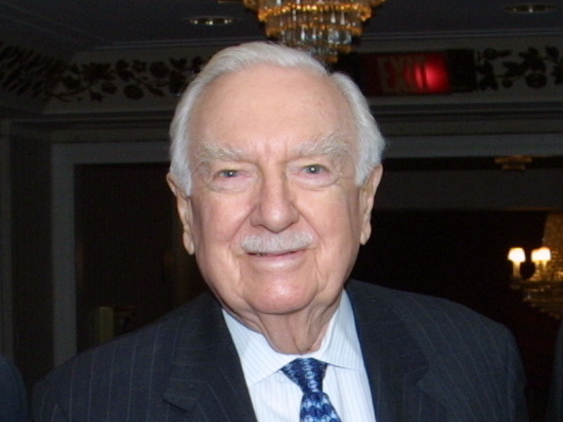Walter Cronkite. Photo by Anders Krusberg/Peabody Awards, CC BY 2.0 , via Wikimedia Commons