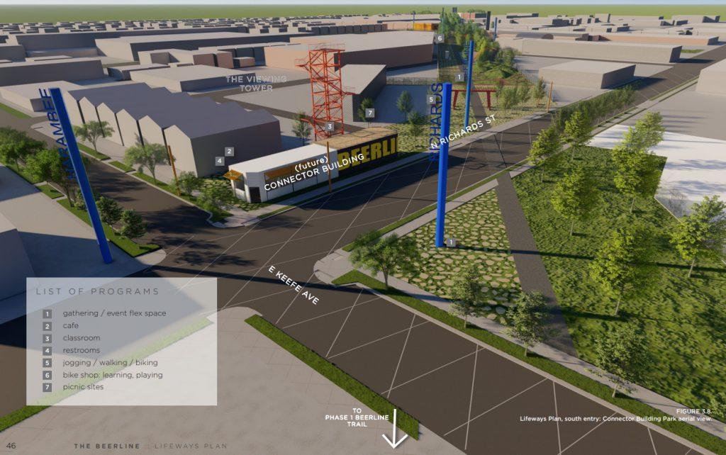 Beerline Trail linear park plan. Rendering by Hood Design Studio.