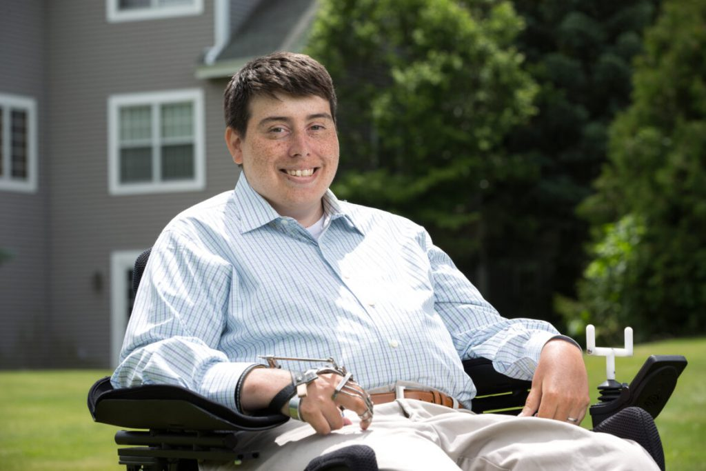 """Wisconsin state Rep. Jimmy Anderson, D-Fitchburg, is paralyzed from the chest down and uses a wheelchair. He wants to improve transportation, health care and access to home attendants to empower voters with disabilities. But he doesn't feel optimistic about his ability to pass bills improving voting accessibility in the Republican-run Legislature. """"It doesn't mean that we shouldn't fight for these issues, and to try to move the needle on it,"""" he adds. Anderson is seen shown in a photo from 2016. Courtesy of Rep. Jimmy Anderson."""