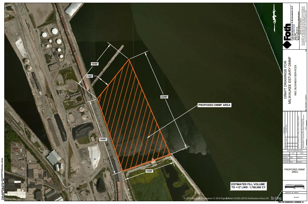 DMMF site map. Image from DNR report.