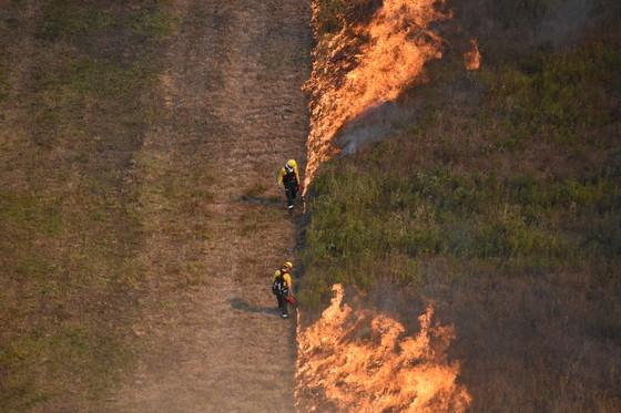 DNR staff conduct a prescribed burn in fall 2020. / Photo Credit: Wisconsin DNR