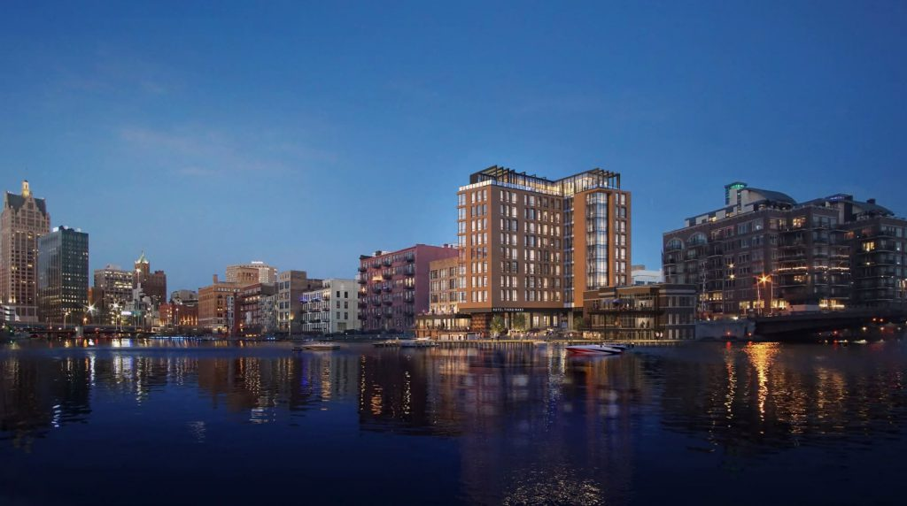 The proposed Hotel Third Ward. Rendering by Eppstein Uhen Architects.