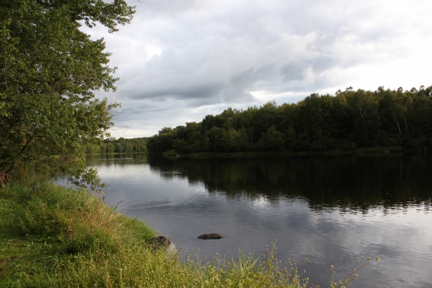 This body of water was once the site of the Flambeau Mine, which is the only nonferrous mine that has operated in Wisconsin in the last 40 years. Rich Kremer/WPR