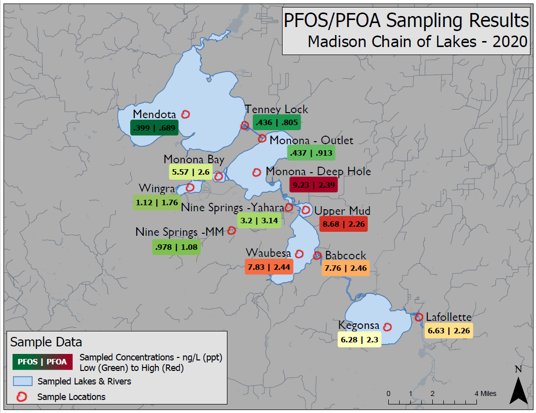 DNR Releases Latest Sampling Results Revealing Broader PFAS Presence In Madison Area Lakes And Yahara River Chain