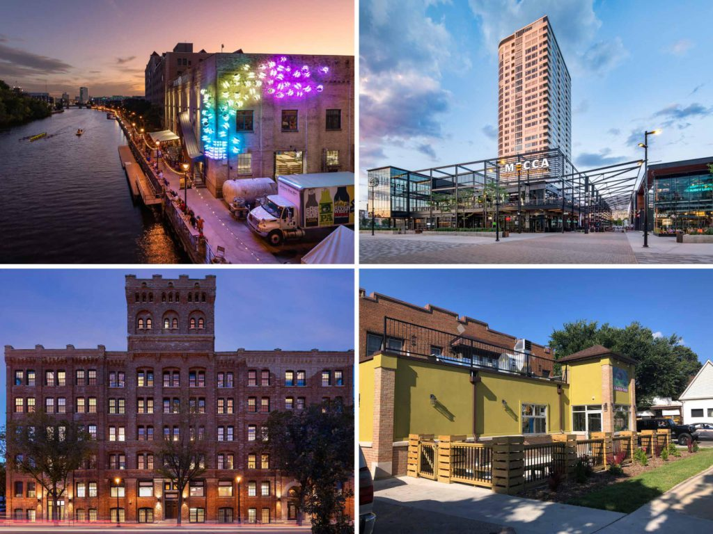 2020 Mayor's Design Awards winners. Images from City of Milwaukee.