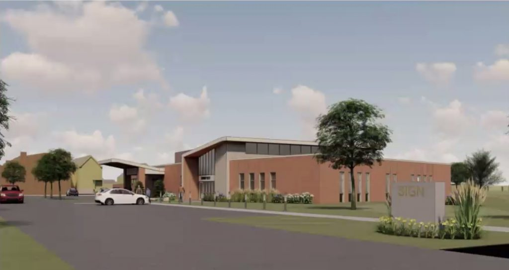 Milwaukee County Mental Health Emergency Center draft rendering. Rendering by Eppstein Uhen Architects.