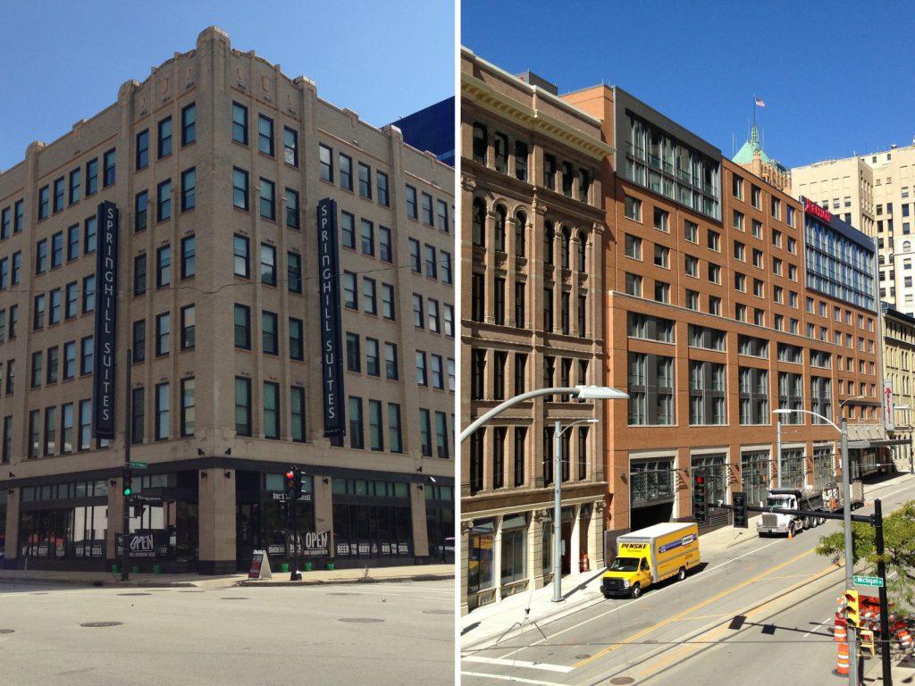 SpringHill Suites and Milwaukee Marriott Downtown. Photos by Mariiana Tzotcheva