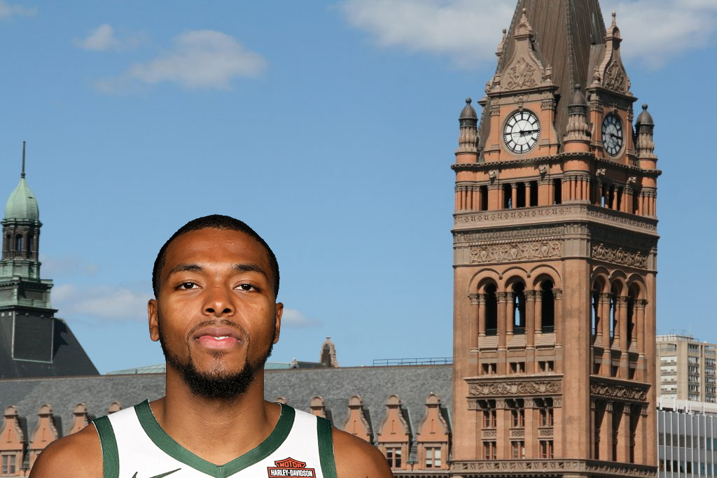 Sterling Brown and City Hall. Brown photo provided, City Hall photo by Jeramey Jannene.