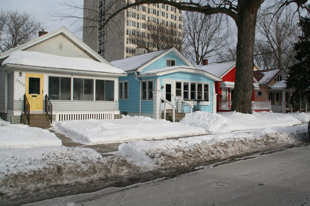 Puddlers' Cottages on S. Superior St. Photo by Jeramey Jannene.