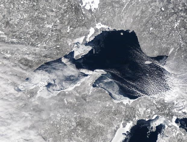 Ice cover on Lake Superior this week. Photo courtesy of Apostle Islands National Lakeshore.