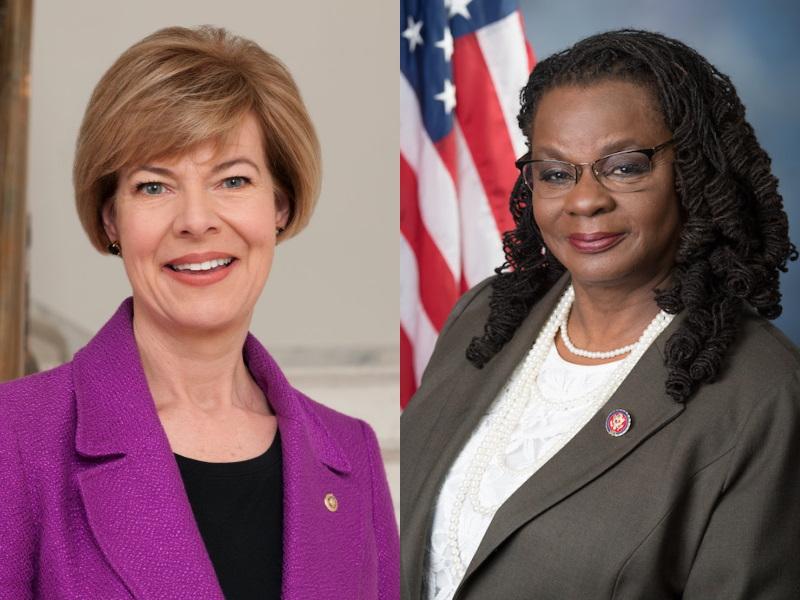 U.S. Senator Tammy Baldwin and U.S. Rep. Gwen Moore.