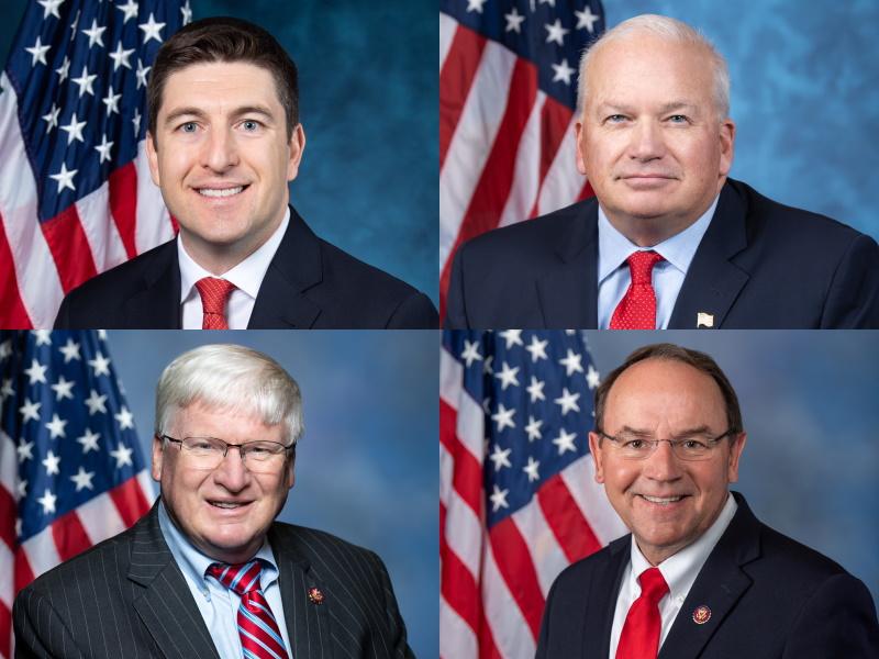 Rep. Bryan Steil, Rep. Scott Fitzgerald, Rep. Glenn Grothman, and Rep. Tom Tiffany