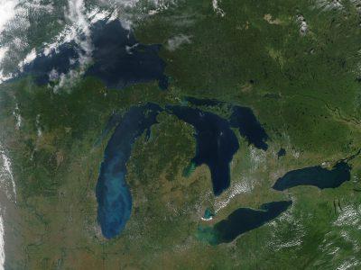 Lake Michigan Ice Cover Near Record Low