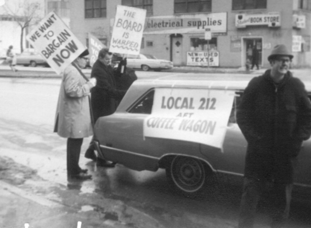 AFT Local 212 strike coffee wagon courtesy of Charlie Dee and Michael Rosen.