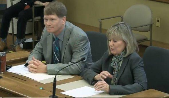 Sen. Alberta Darling and Rep. Jeremy Thiesfeldt in committee 2/25/21 via WisEye