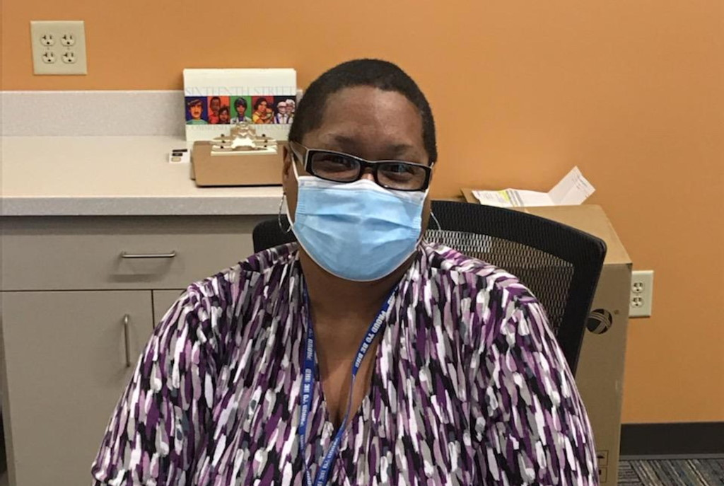 Arna Beckley, clerk at the Access Clinic South. Photo courtesy of the Milwaukee County Behavioral Health Division.