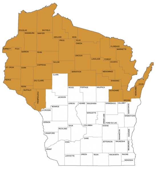 The 3rd District Court of Appeals covers all of northern Wisconsin. Image from the Wisconsin Court System.