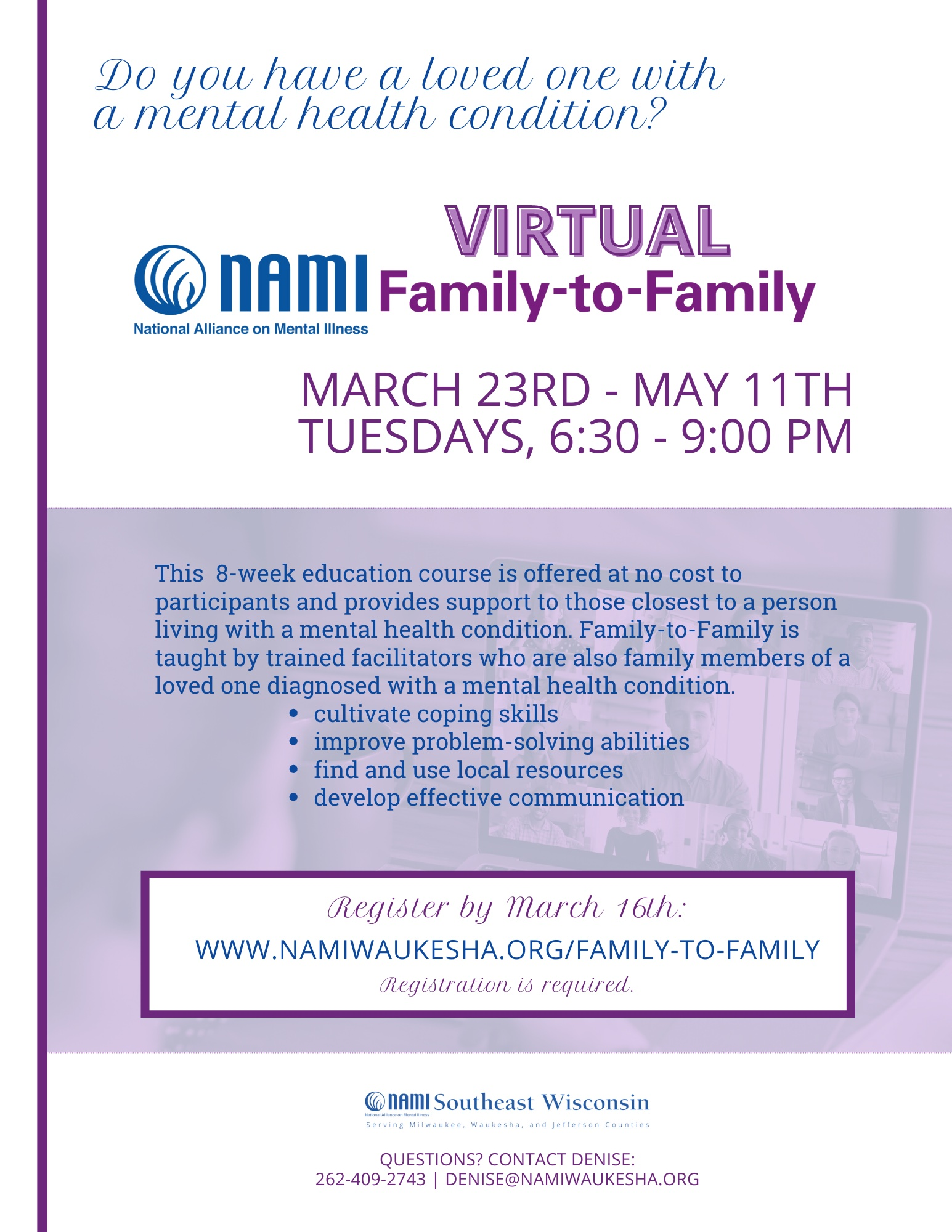 NAMI Virtual Family to Family Education Program