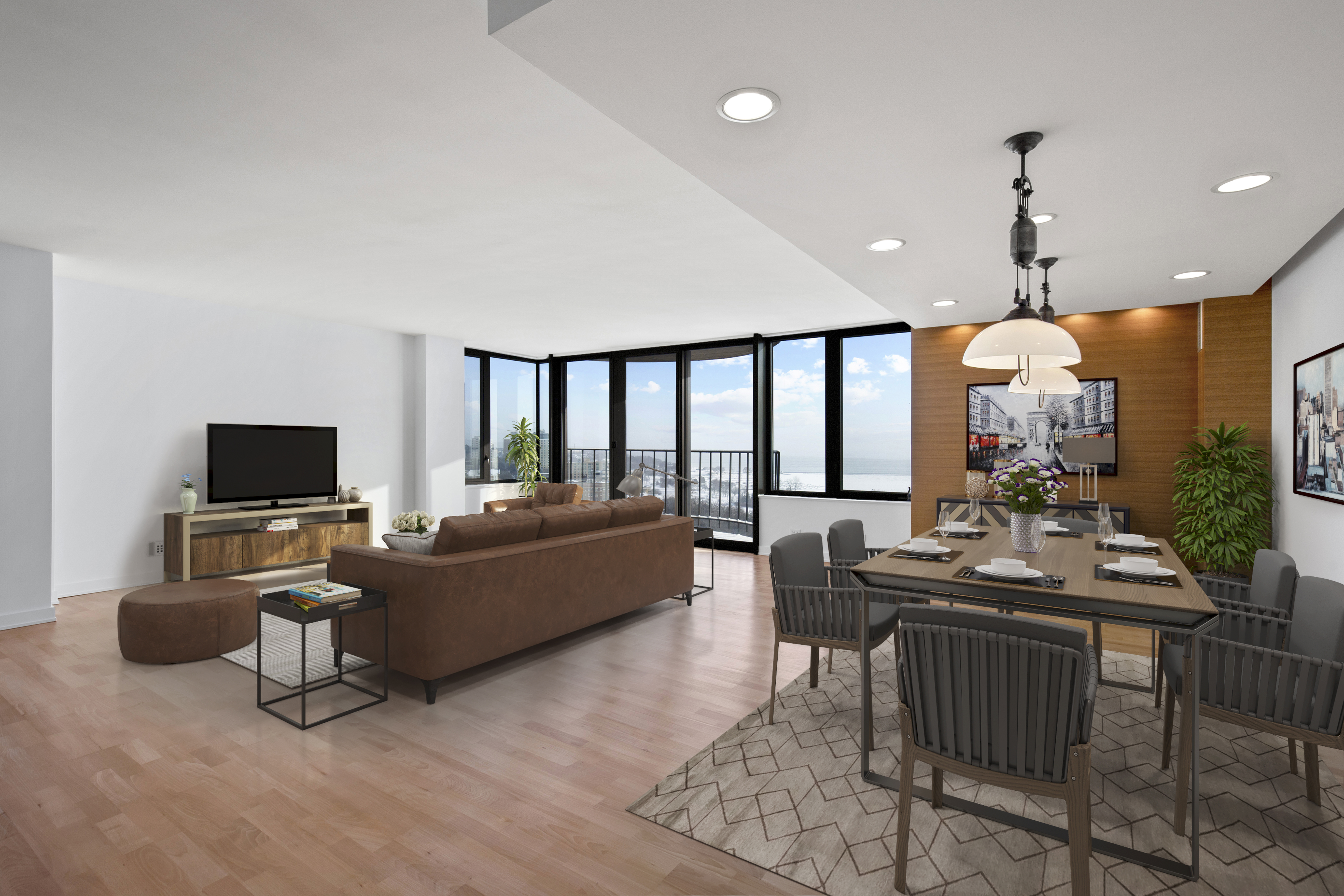929 N. Astor St., #1808, with virtual staging. Photo courtesy of Corley Real Estate.