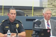 Wauwatosa Police Captain Brian Zalewski (left) and Chief Barry Weber (right) Photo by Isiah Holmes/Wisconsin Examiner.