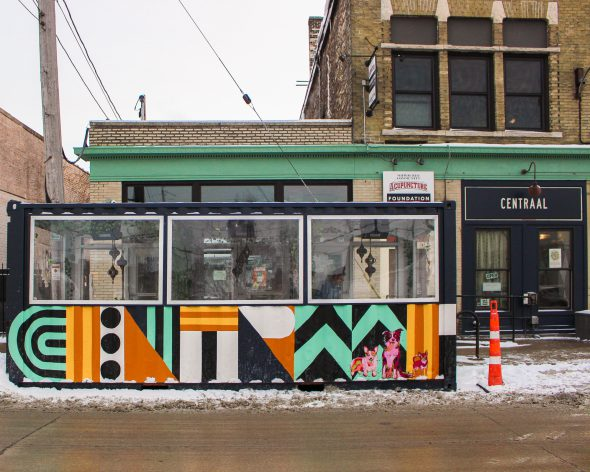 Streetcar seating. Photo courtesy of Lowlands Group.