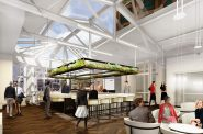 Associated Bank River Center lounge. Rendering by RINKA.