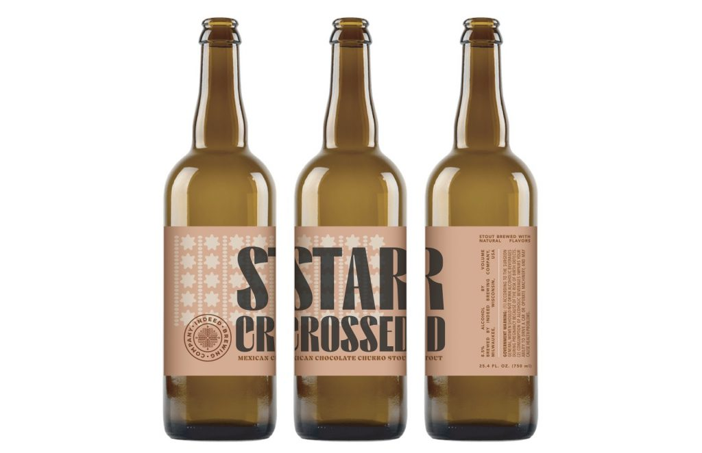 Star-Crossed Mexican Chocolate Churro Stout. Photo courtesy of Indeed Brewing Company.