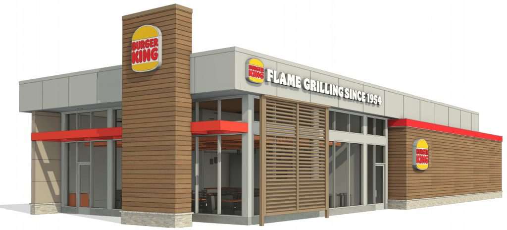 Burger King proposed for 7501 W. Oklahoma Ave. Rendering by KOMA.