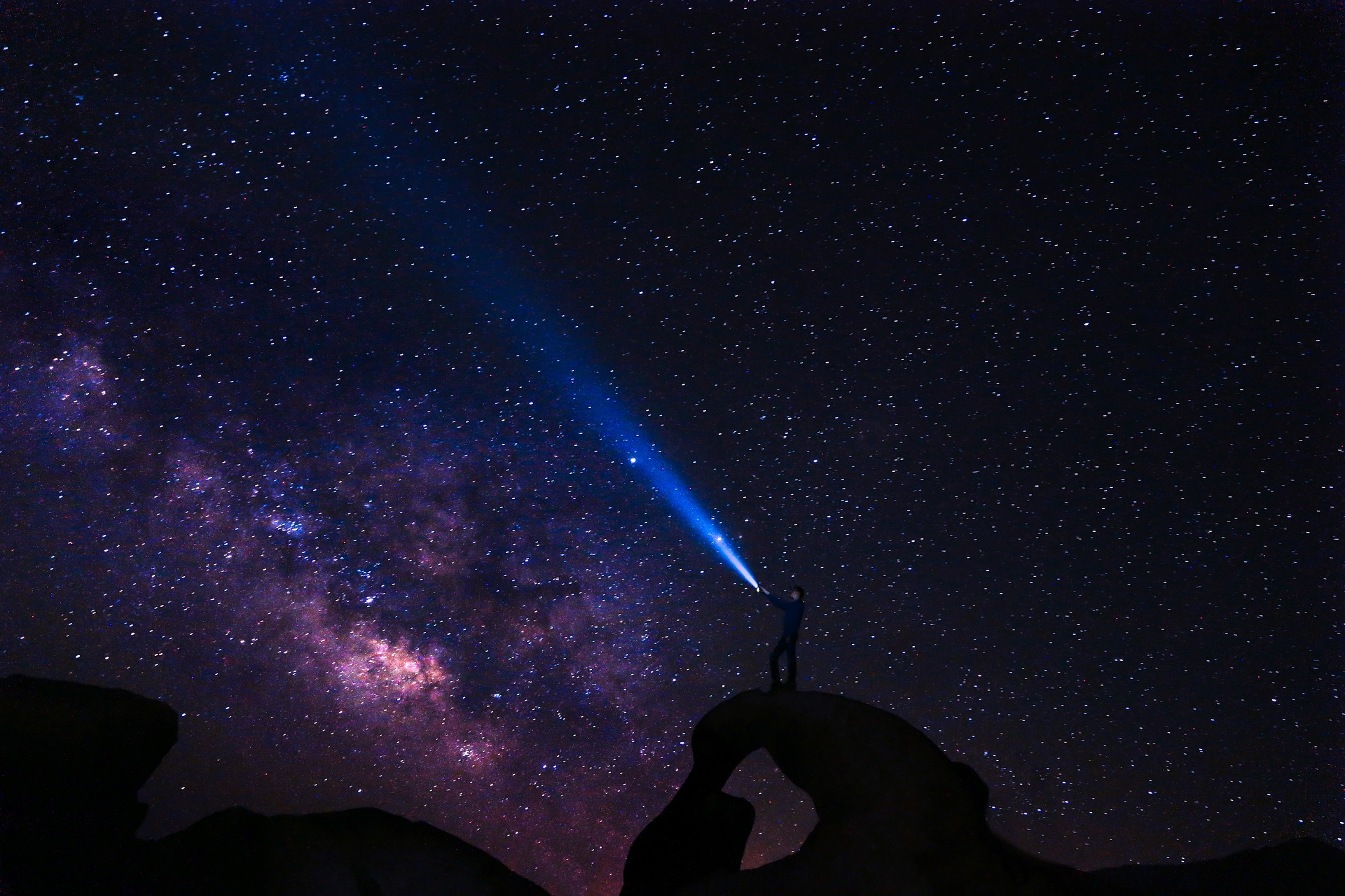 Stargazing. (Pixabay License). Free commercial use No photo credits required