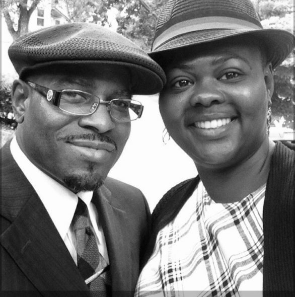 """Prince Rashada, left, is seen with his fianceé, Faithe Wills. Rashada, 52, an inmate at Fox Lake Correctional Institution, was among seven inmates at three prisons who told Wisconsin Watch that soap and sanitizer remained hard to access — or that sanitation was broadly lacking. """"I fear for my life, and I feel I'm going to die in prison. I'm having nightmares that I'm going to die in here,"""" Rashada says. Courtesy of Faithe Wills"""