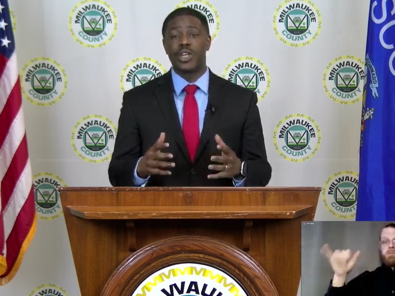 David Crowley. Image from Milwaukee County Youtube livestream.