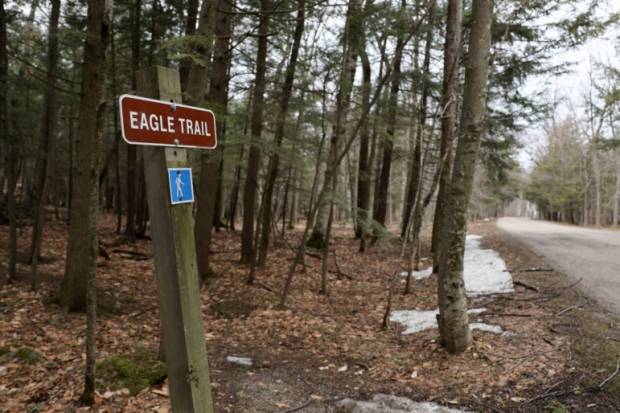 Peninsula State Park and other state parks remain open during the pandemic, providing a place for people to be outside in Door County during the crisis. Photo taken March 31, 2020. Coburn Dukehart/Wisconsin Watch