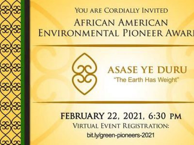 February 22nd Program: African American Environmental Pioneer Awards