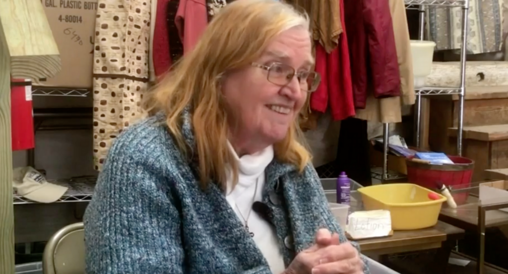 """""""Society has a sick a way of thinking there are people who can be thrown away,"""" says Sister MacCanon Brown, who has worked for 30 years to make life better for those who experience homelessness. Photo courtesy of TMJ4 News."""