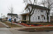 New houses rise along W. Harmon St. in Josey Heights. Photo by Jeramey Jannene.