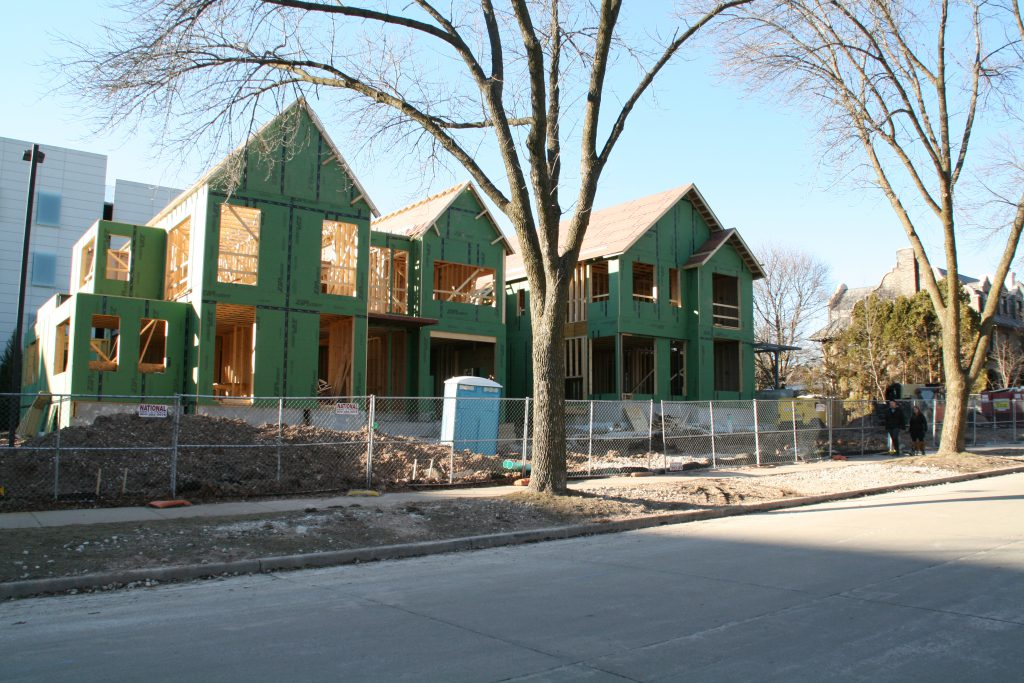 New homes on the 2300 block of N. Terrace Ave. Photo by Jeramey Jannene.