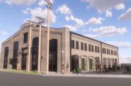 Revised Coach Yards proposal for 100 N. Jefferson St. Rendering by MSI.