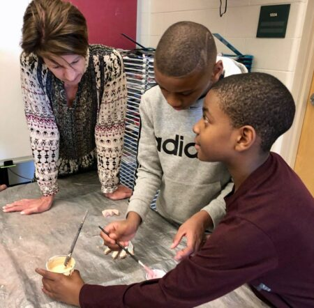 Lynda Kohler, the president and CEO of SHARP Literacy, says the organization has changed over the years, but it remains committed to its belief that children can achieve academic success through creative expression. Photo provided by SHARP Literacy/NNS.