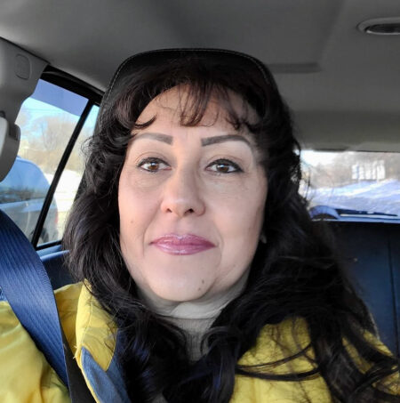 """""""Amazon said they wouldn't deliver, so we said, 'We're from Wisconsin. We know how to drive in this weather. We'll just do this,'"""" says Laura Manriquez, who lives on the South Side. """"There's no stopping us."""" Photo provided by Laura Manriquez."""